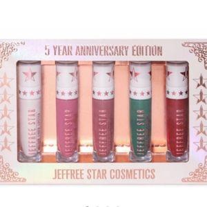 Jeffree Star 5 Year Anniversary lipstick set